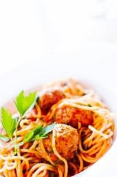 Spaghetti al Polpette e Pomodoro