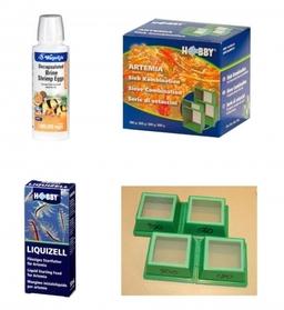 Artemia Pack: 4 Net Combo, Artemia Eggs and Algae Food