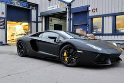 Lamborghini Aventador Satin Black,Wrapping London