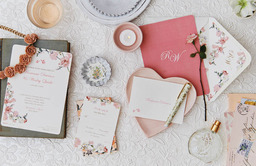 Pink Floral Invitations
