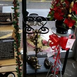 wrought iron grave memorials