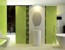 Bathroom Setting Lime Green