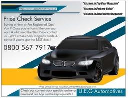No Obligation Price Check Service from UEG Automotives