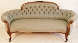 Victorian Walnut Couch