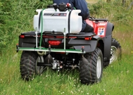 Fully licensed weed control with a Quad bike mounted sprayer