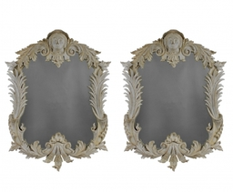Pair Of Large Irish Country House Mirrors