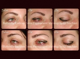 Butterfly Eyeliner Semi Permanent Makeup By El Truchan @ Perfect Definition
