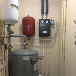 Plumbing repair to a solar hot water system