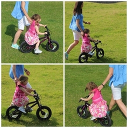 Ergonomically designed with soft to touch materials combined with padding to comfortably support and help your child find their own balance on a bike and boost their confidence learning to cycle. You can simply walk or run, in an upright position, alongsi