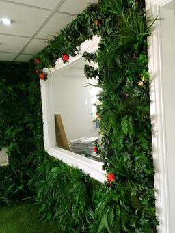Artificial Mixed Plants Create Instant Green Wall