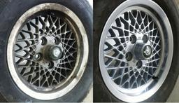 Jaguar wheel refinish