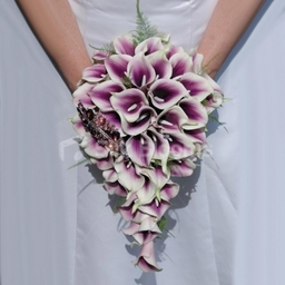 Purple Vermeer Lily Bridal Bouquet Artificial Wedding Flowers