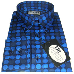 Blue Geometric Shirt Mens
