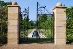 Bespoke garden gates and water rill