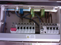 Close up of the fuse board.