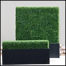 hedgedin artificial boxwood hedge planters