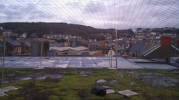 Khitan Bird and Pest Solutions completing a roof netting installation for seagulls in Aberystwyth