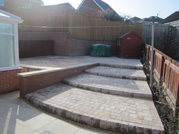 Patio area after