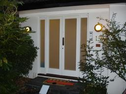 A Domestic Front door prior to fitting Collapsible Gates.....