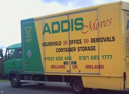 Addis Moves dual us purpose built removal/container storage  vans.