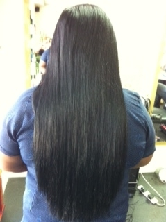 I hair after use 105 extensions of 22''