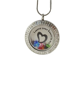 Sparkling Crystal Double Living Locket & Chain