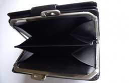 Left handed purses and wallets