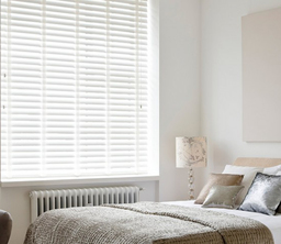 Bright White Faux Wood Venetian Blinds With Tapes