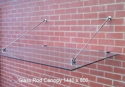 Glass Rod Glass Canopy
