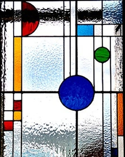 Stained Glass for a front door from customers in Fife designed and made by Artisan Stained Glass