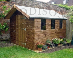 Apex Shed with extra roof overhang