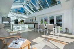 Modern Orangery Interior with Kitchen