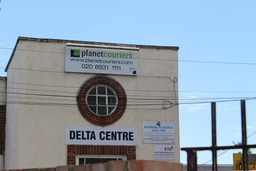 Delta Centre building sign where Peleka is located