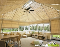 Woven Wood Bamboo Conservatory Blinds