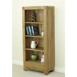 Eton Solid Oak Large Bookcase