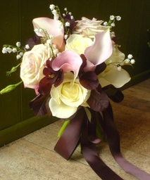 Scented Posy With Chocolate-coloured Ribbon
