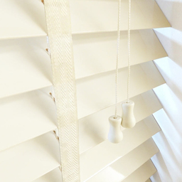 Next Day Cream Wood Venetian Blinds With Tapes