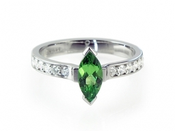Green Marquise and Diamonds