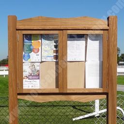 Solid wood external notice board