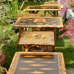 English Victorian Bamboo tables