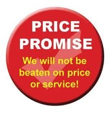 We offer our price promise guarentee