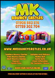 MK Bouncy Castles Flyer