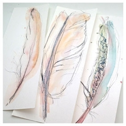 Feather Drawing, Brighton Art Workshops