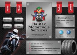Halifax Motor Cycles website design