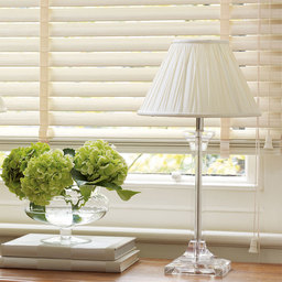 Cream Faux Wood Venetian Blinds With Tapes