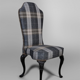 Classic Style Dining Chair Side View