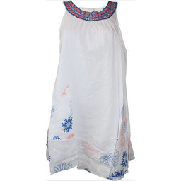 Embroidered Printed Linen Dress