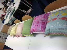 Some fabulous cushions with piping and zips
