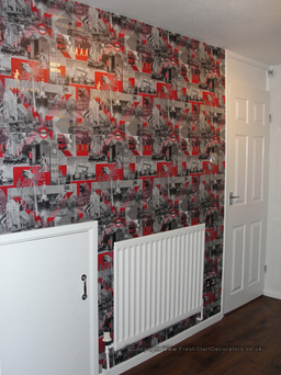 Kitchen feature wallpaper