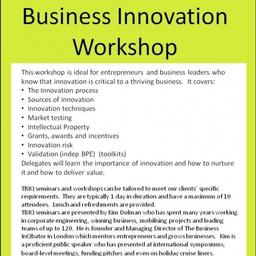 Flyer Business Innovation Workshop